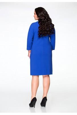 Повседневное синее платье