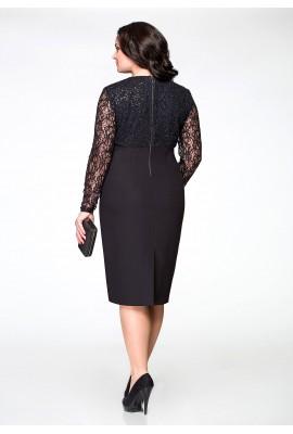 Вечернее платье с кружевом и пайетками