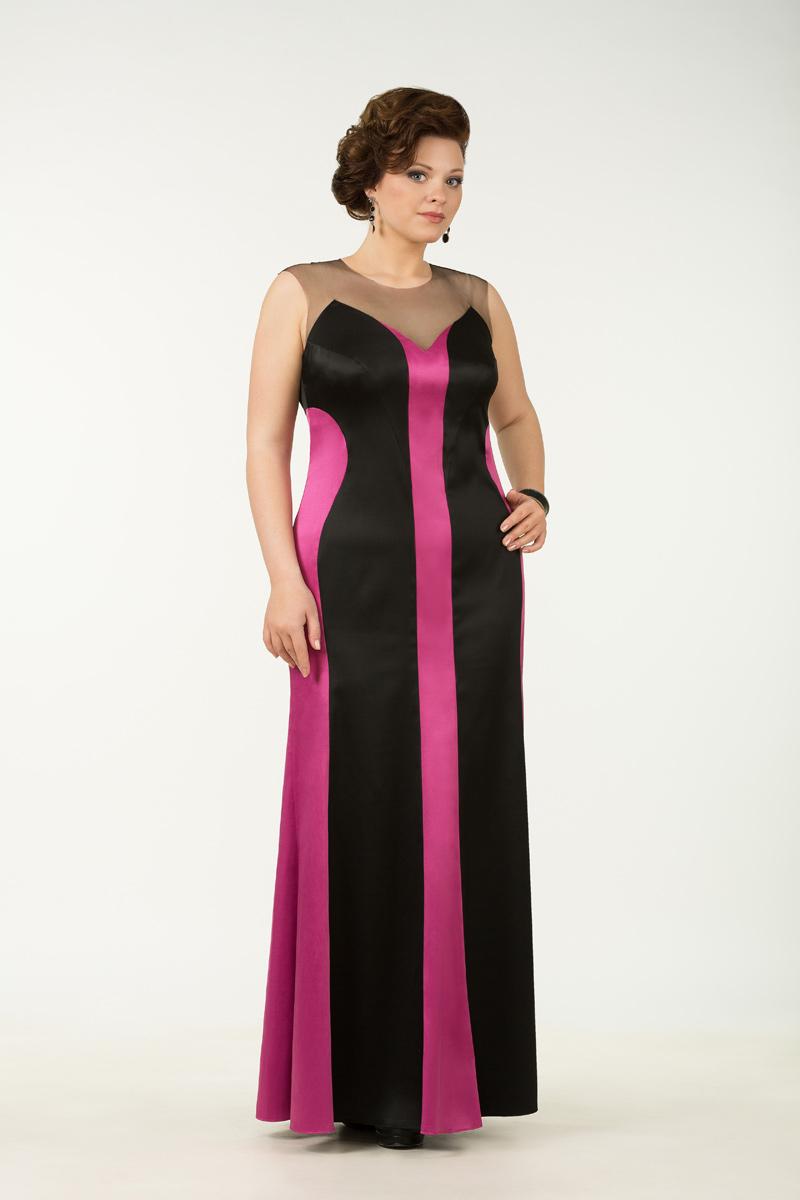 Вечернее длинное платье - фуксия