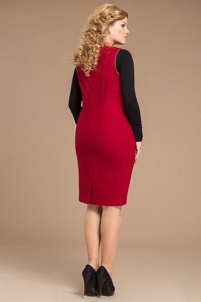 Коралловое платье-сарафан