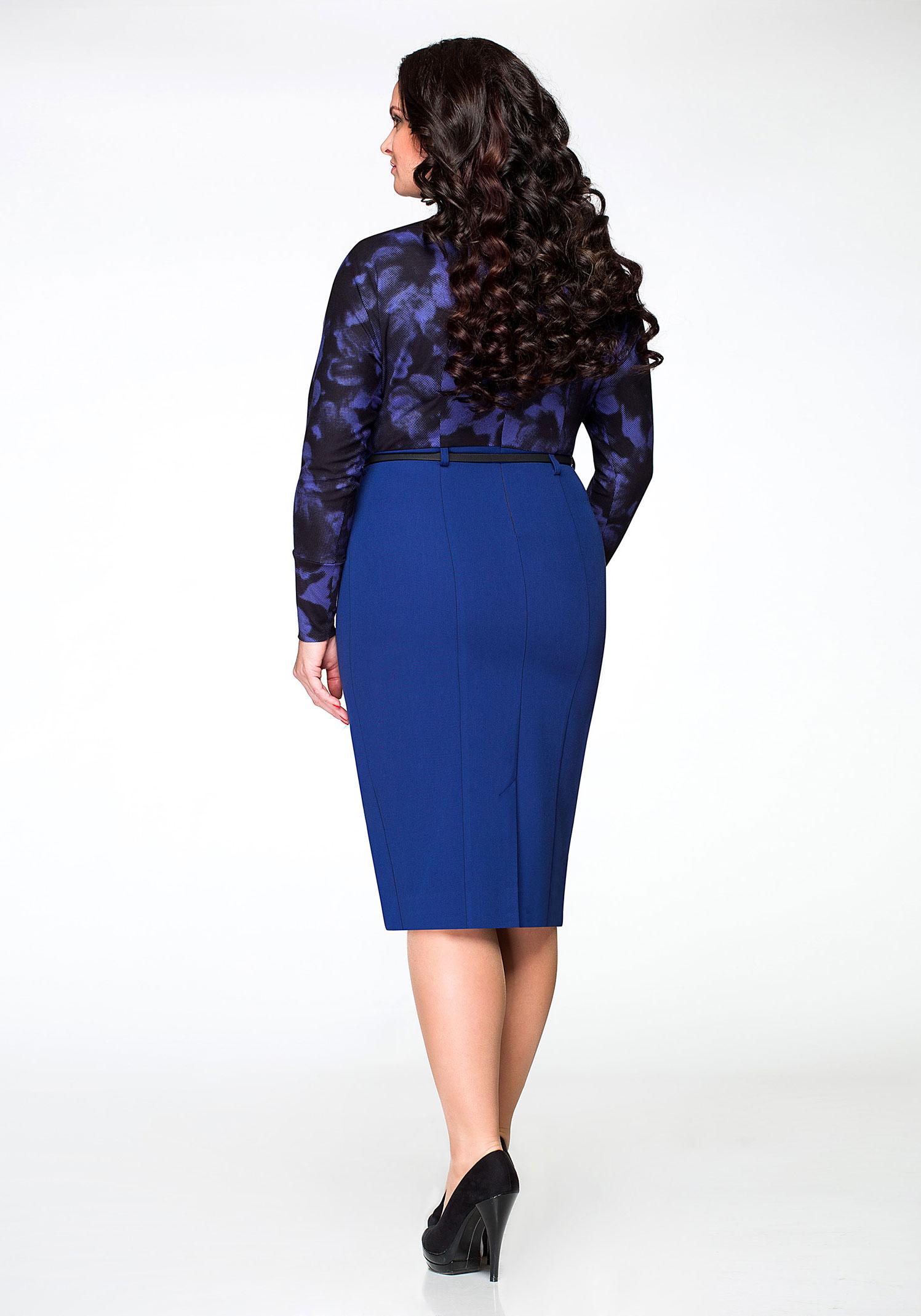 Платье повседневное, синее