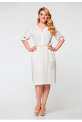 Женское платье белое
