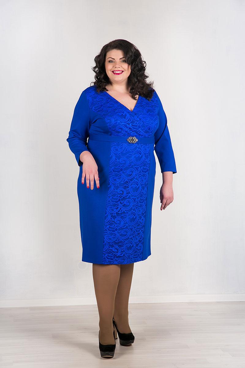 Вечернее синее платье